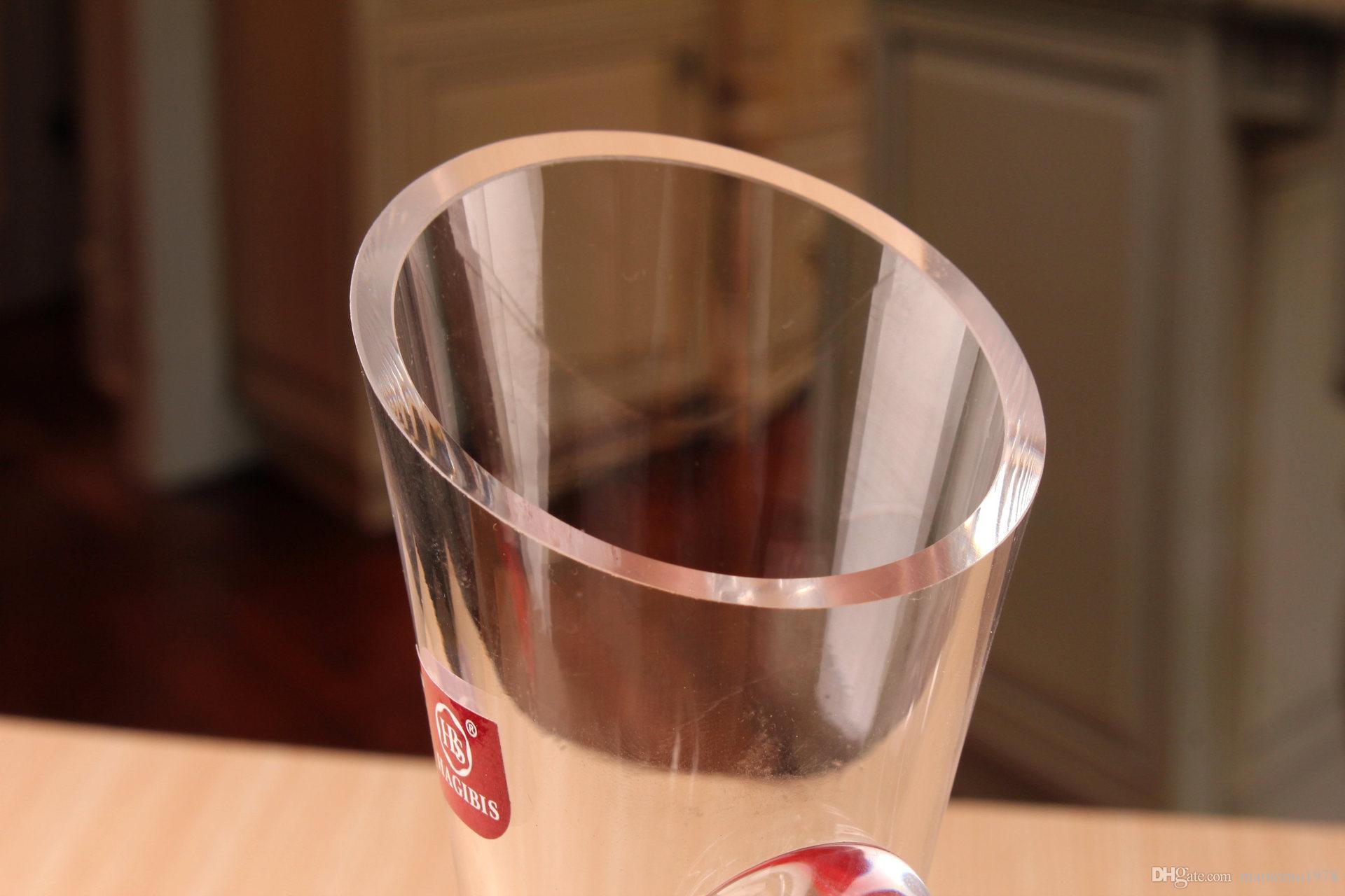 1 STÜCK 1500 ml Neue Glaskaraffe Bevel Auslauf Weinkaraffe Wein Belüfter Container Dispenser Karaffe Flasche Krug wein ausgießer J1112