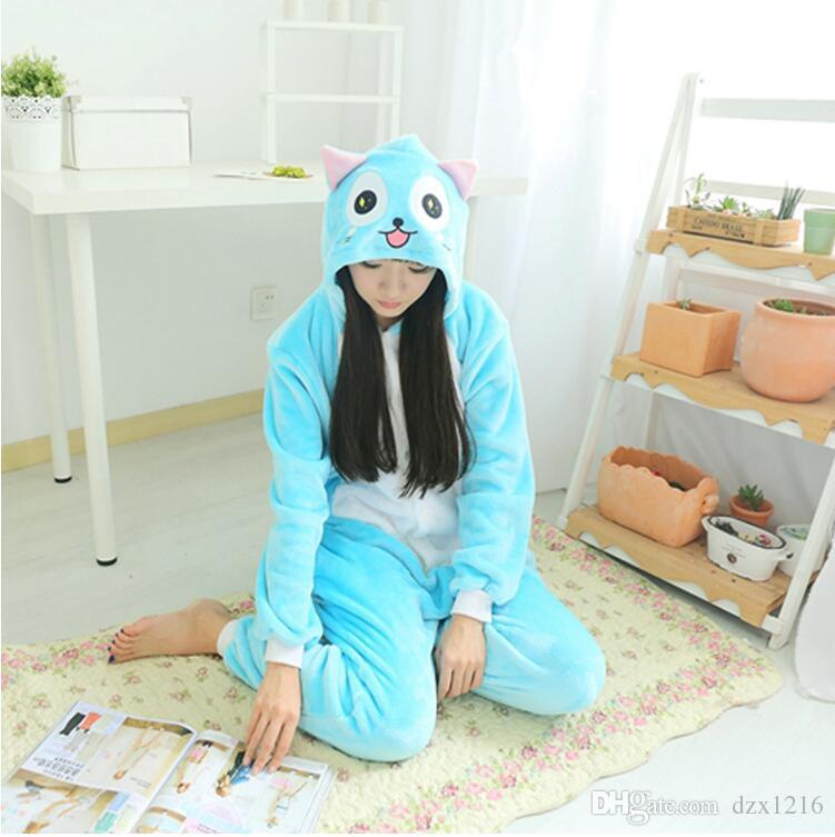 Popular And Lovely Women Blue Cat Animal Hooded Onesie for adult