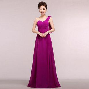Multi Vestidos Night Long Eggplant Elegant Women Evening Dresses ...