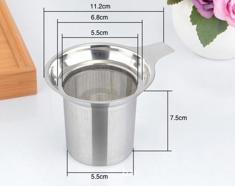 50 шт./лот быстрая доставка новый 304 из нержавеющей стали чай Infuser ситечко сыпучих чай лист специй фильтр