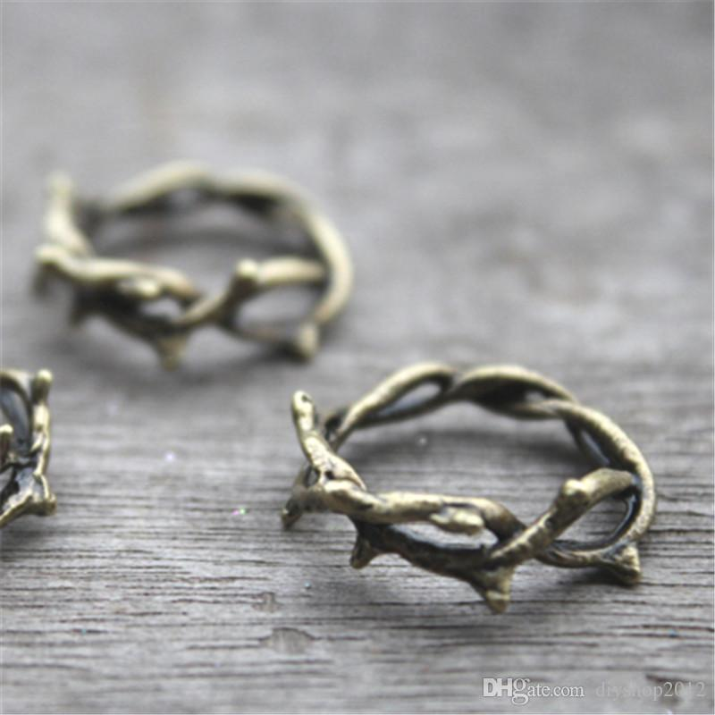 Crown of thorns charmsthorn ringbronze twig ring branch ring crown of thorns charmsthorn ringbronze twig ring branch ring pendantscharms gift accessory 23 mm charms online with 398piece on diyshop2012s aloadofball Images