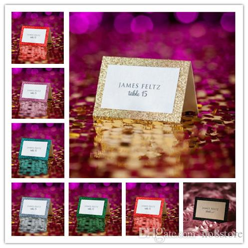 Glitter Style Wedding Collection Table Tent Place Cards For - Wedding table tents