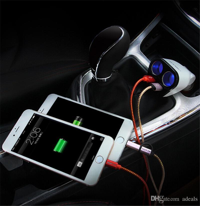 12V/24V Universal Car USB Car cigarette lighter adapter socket converter 5V 3.4A car voltage diagnostic display