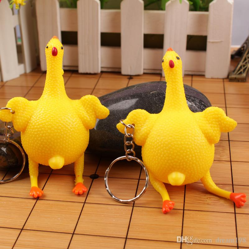 Halloween Vent Chicken Jokes Gags Pranks Maker Funny Egg Laying Plucked Rubber Stress Relief Toys Size : 10cm /