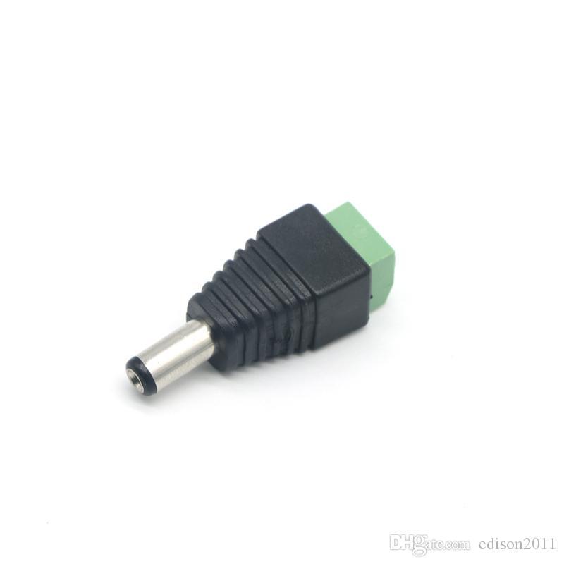 Edison2011 10 шт 12V 2,1 х 5,5 мм DC Power Мужской Разъем Jack Plug адаптер Разъем для CCTV одноцветные светодиодные