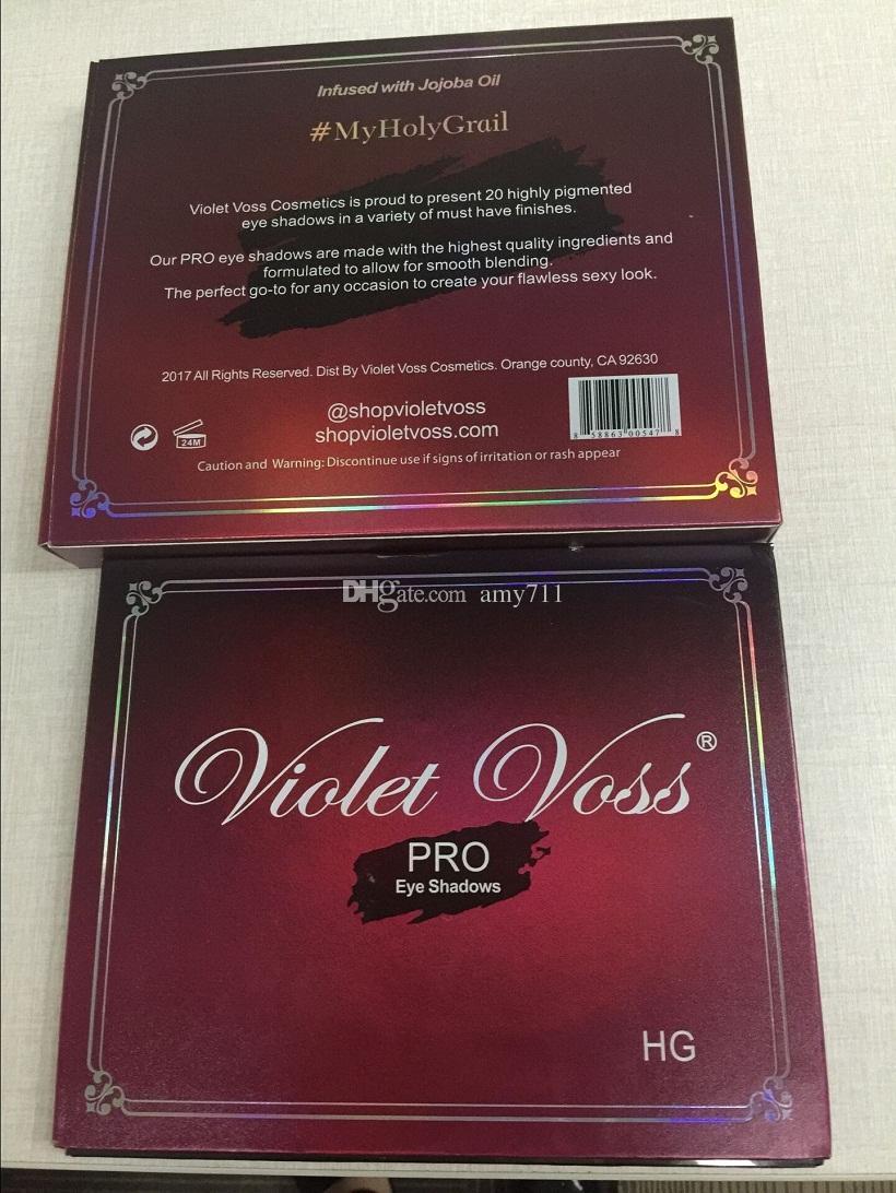 새로운 뜨거운 VIOLET VOSS HOLY GRAIL 프로 EYESHADOW PALETTE 20 색 아이섀도 팔레트 DHL 배송 + 선물