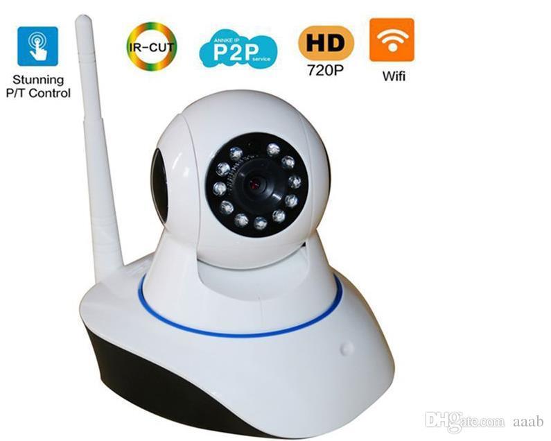 2019 Novo sem fio 720 P HD ip câmera wi-fi câmera 802.11b / g P2P rede infravermelho câmera de segurança interna com sensor de alarme