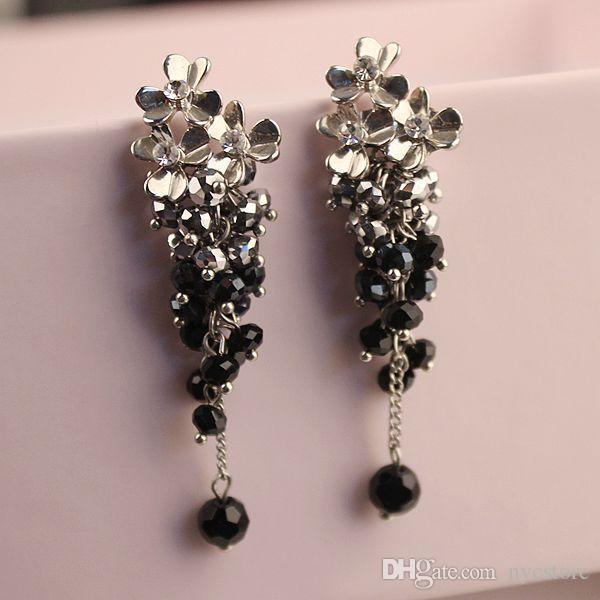 mix many styles fashion women earrings flower leaf heart drop dangle earring gold silver long earing hook chandelier ear ring ear accessory