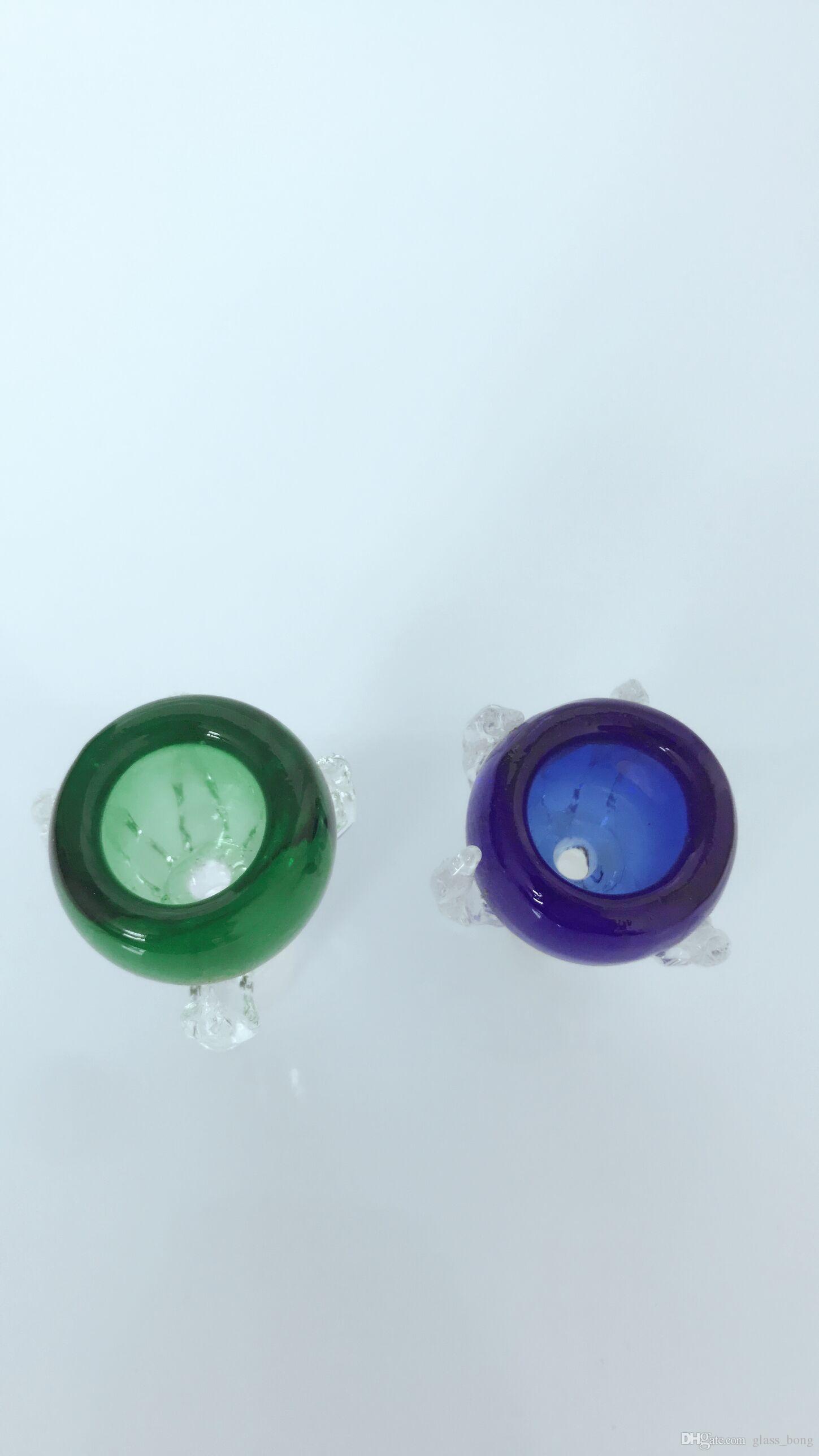 Recipiente de vidrio macho, 14.5 mm, 18.8 mm para plataformas petroleras, gruesas, coloridas, de alta calidad, accesorios para fumar bong