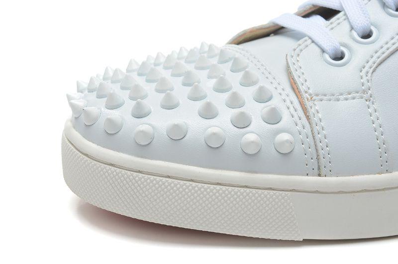 Kırmızı Alt Sneakers Erkekler Kadınlar Marka Ayakkabı Sivri Düz Rahat ayakkabılar Erkekler Düşük Üst Kırmızı Taban Çivili Siyah Çiviler Perçin Erkek Rahat Ayakka ...