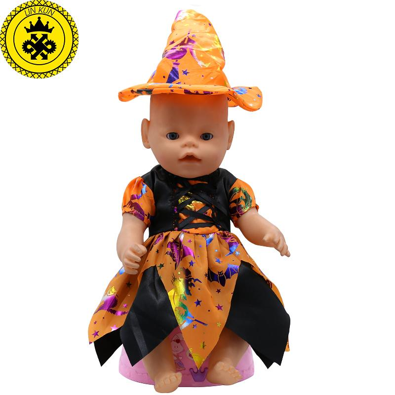 baby born doll clothes cute halloween witch dress fit 43cm zapf baby born 16 18 inch doll accessories children birthday gifts t1 baby doll and accessories - Cute Halloween Accessories