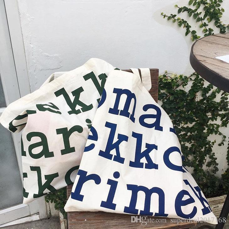 grande stampa della lettera logo Tote bag in tela Grande capacità Shopping borse Messenger bag donna grande Totes borsa donna Moda