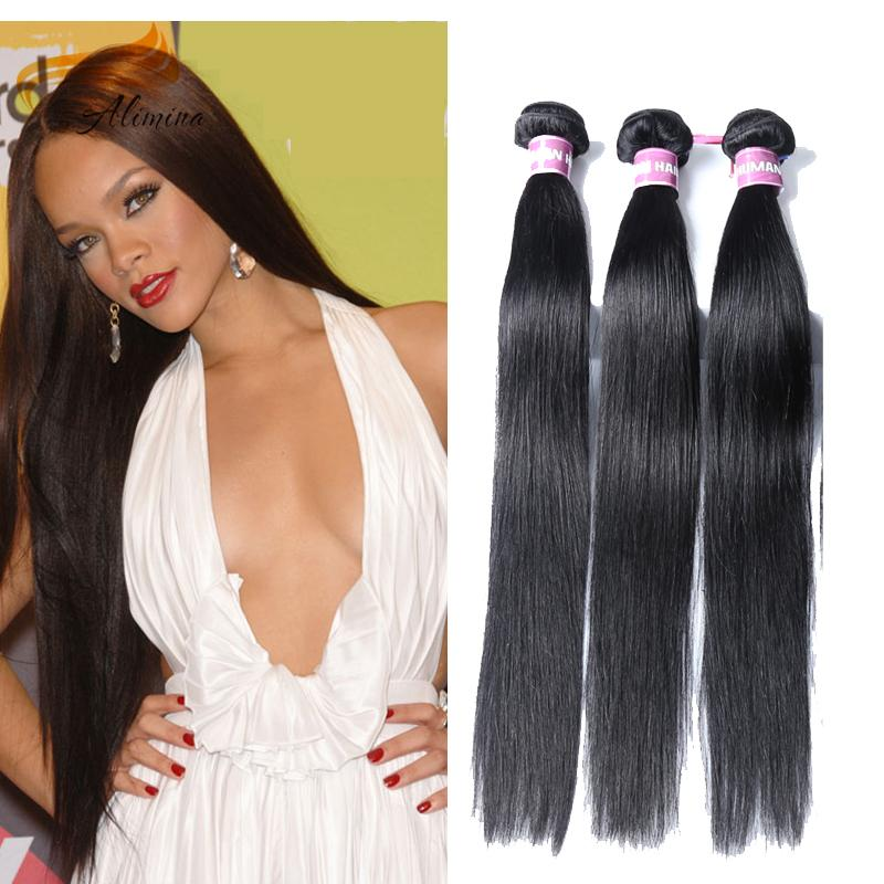 Alimina Hair Silky Straight Hair Weave Cheap Price Good Quality 3