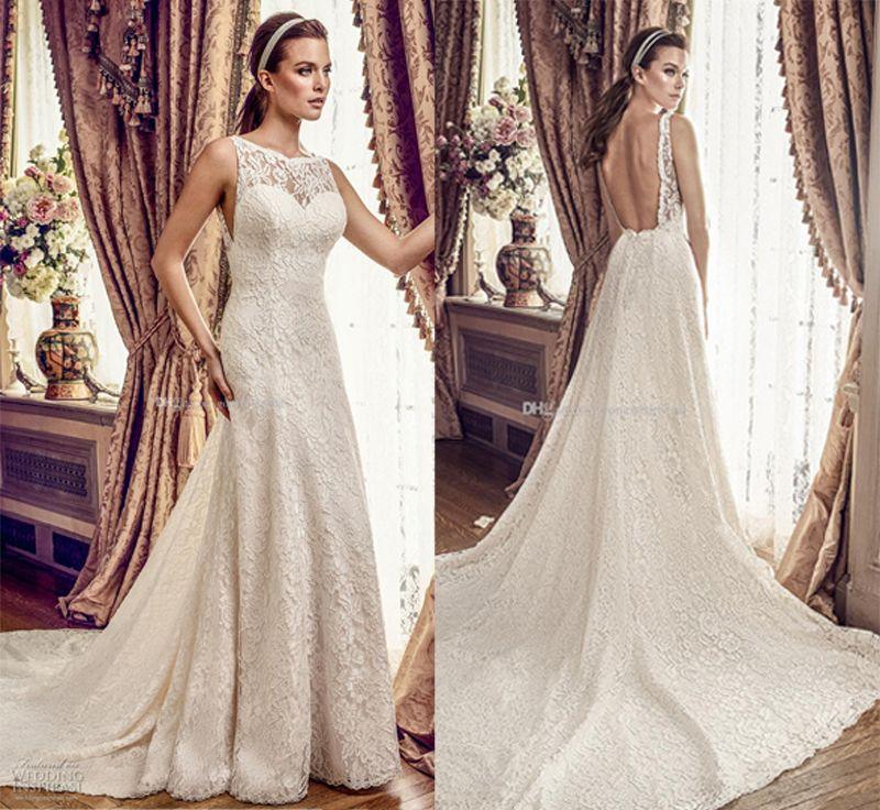 Discount Full Lace Drop Waist Wedding Dresses 2017 Mikaella Bridal ...