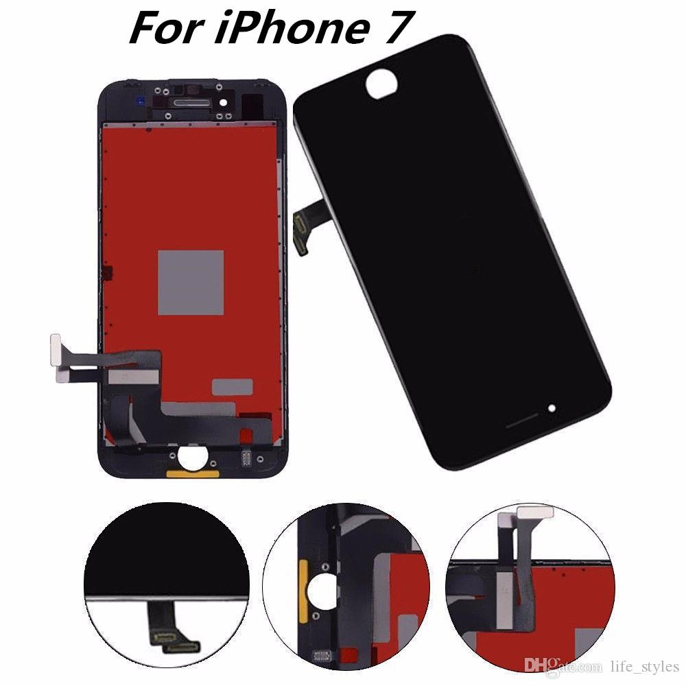 buy cheap 80c4f 85905 New iPhone 7 LCD Display Touch Screen Digitizer Assembly Phone Replacement  Parts LCD For iPhone 7 Screen Black White