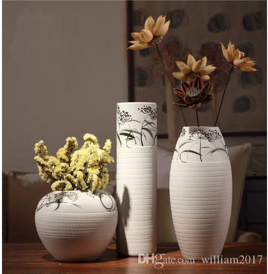 compre jarrones decorativos de cermica decoracin de hogar muebles de televisin decoracin de la habitacin jarrones vaso decorativo grande vasos de - Jarrones Decorativos