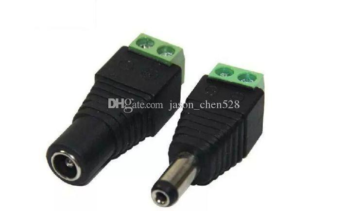 100% new CCTV Camera adapter 2.1mm*5.5mm Male & Female DC Power Jack Adapter Connector Plug camera connector