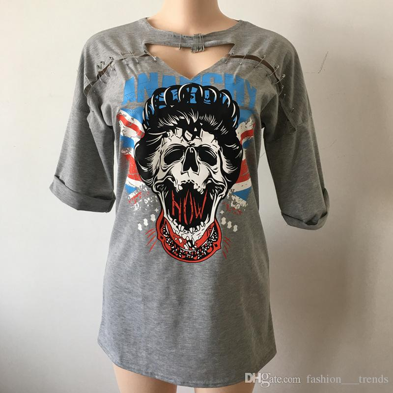 Vintage Rock Style Women Short Sleeve Long TShirt Mini Dress Eagle Motorcycle Print Punk Girl Casual Party Tee Tops vestido summer dress
