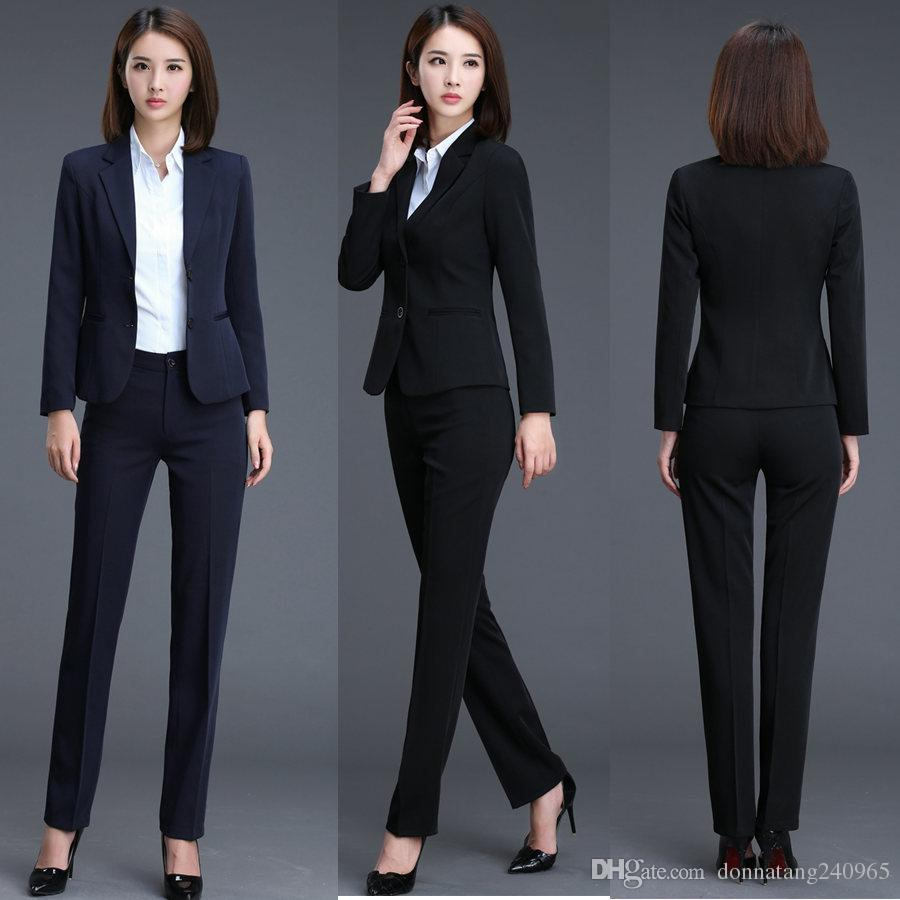 2019 Plus Size 5XL New Autumn Bussiness Formal Elegant Women Suit Set  Blazers And Pants Office Suits Ladies Pants Suits Trouser Suits From  Donnatang240965 d7150733a