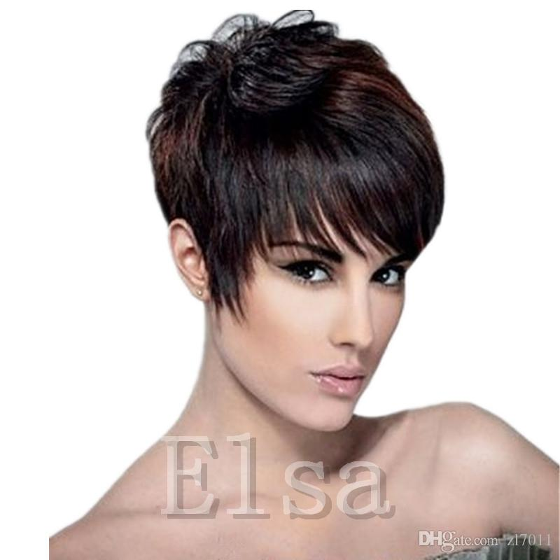 Short Human Hiar Wig Indian short pixie human