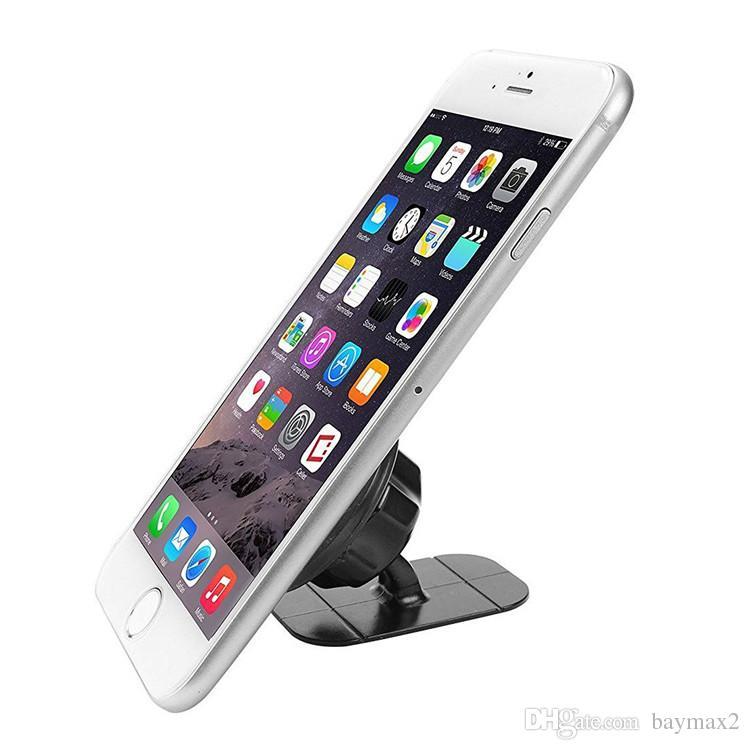 MagnetIc حامل الهاتف سيارة لوحة جبل حامل دعم الهاتف المغناطيس مع لاصق للهاتف الخليوي العالمي