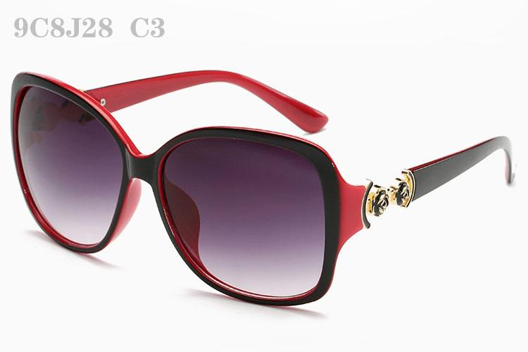 Sonnenbrille für Frauen Luxus Sunglass Damenmode Sunglases Damen Vintage Sonnenbrille Frau Blume Designer Sonnenbrille 9C8J28