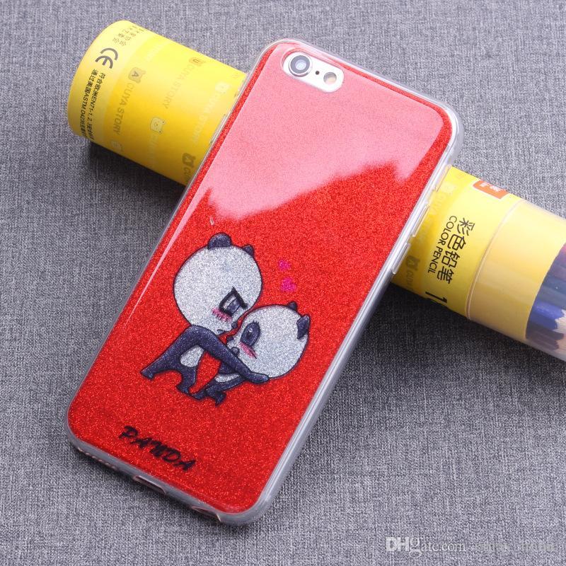 coperture del telefono Il telefono mobile di arte creativa di TPU di rilievo del guscio del telefono di Flicker mette LIBERO il telefono