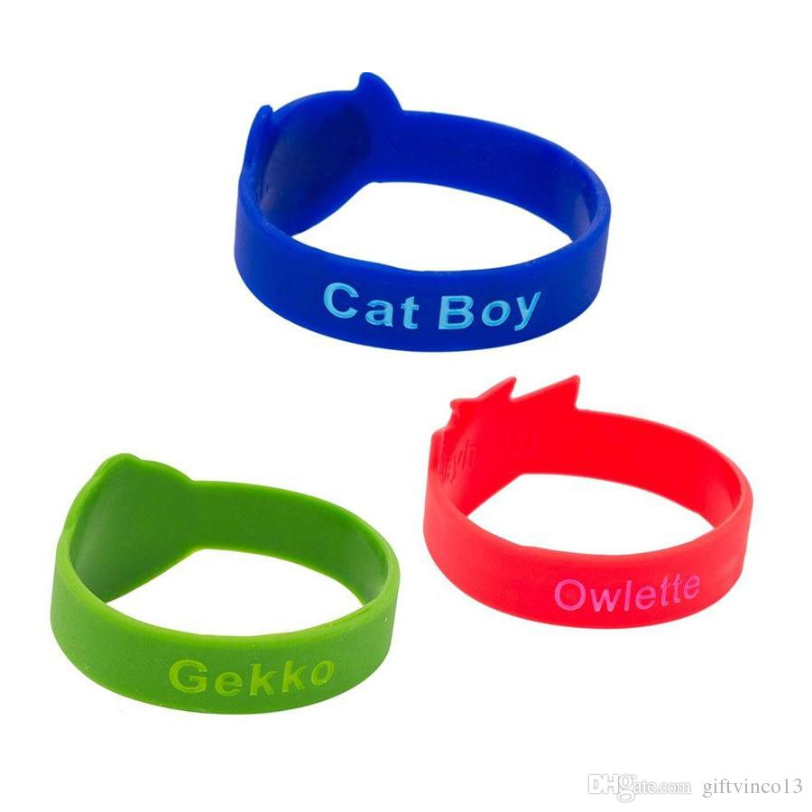 PJ Theme Silicone Bracelets Sport Wrist Band Toy Birthday Christmas Gift Costumes Party Supplies for Kids