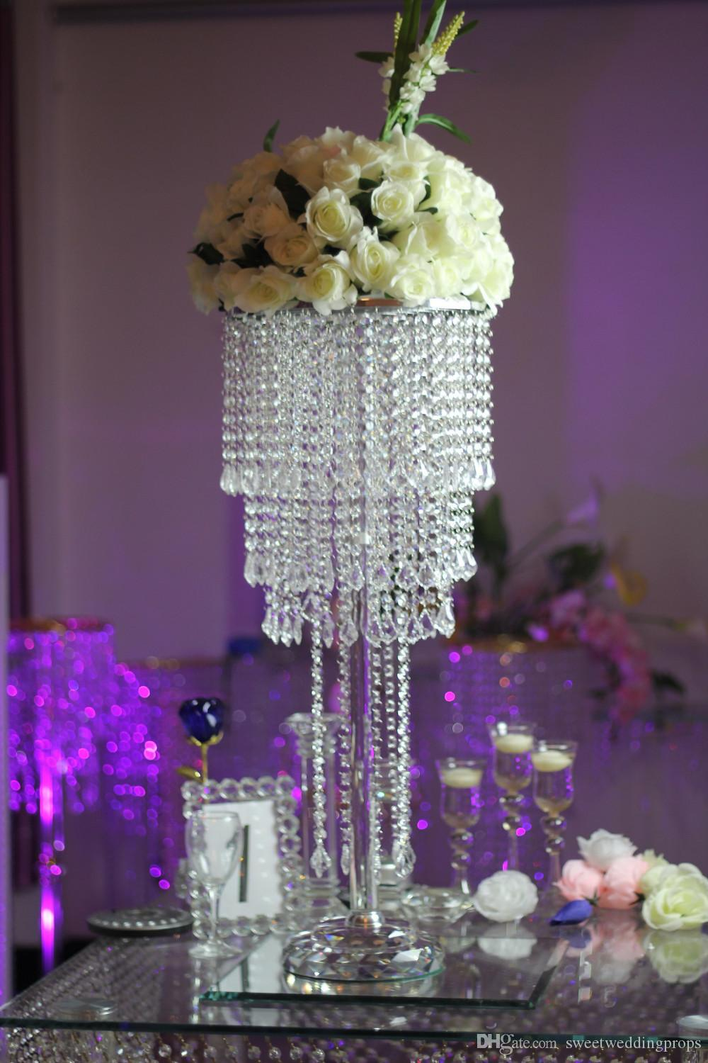 crystal decorations for weddings new style wedding aisle pillar 3207