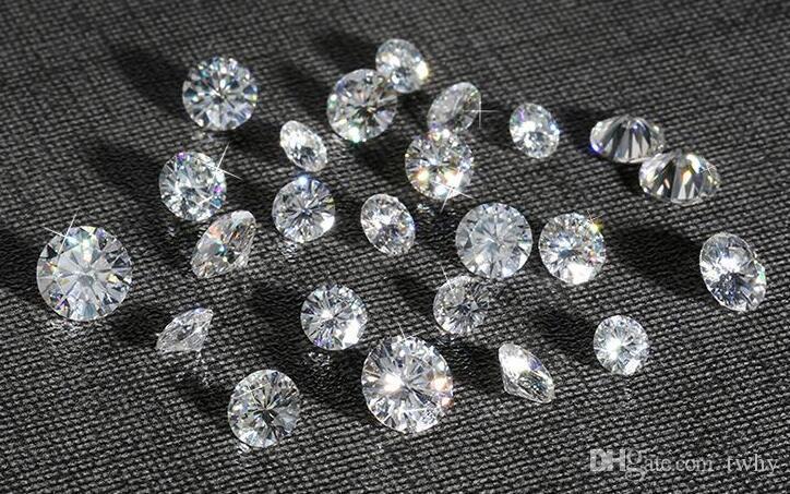 La maggior parte Brilliant F colore 6.5 millimetri forma rotonda bianco Moissanite pietre sintetiche sciolto Moissanite pietra preziosa perline Diamond Test positivo