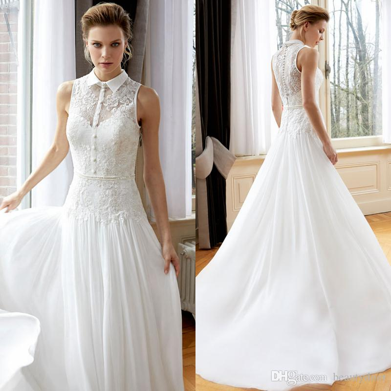 Discount 2017 New Arrival Garden Wedding Dresses France Lace Bodice ...