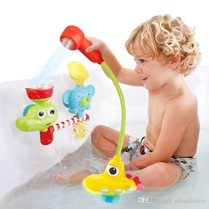 2018 original Very Funy Electronic Fountain Baby Bath Toys Submarine ...