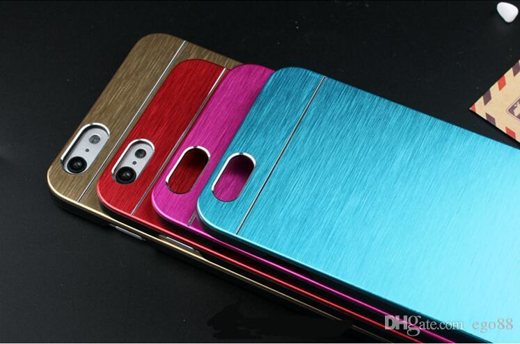 For iPhone 6 Motomo Case Aluminum Alloy Brush Case For iPhone 6 Plus Metal Ultra Thin Case with OPP Package