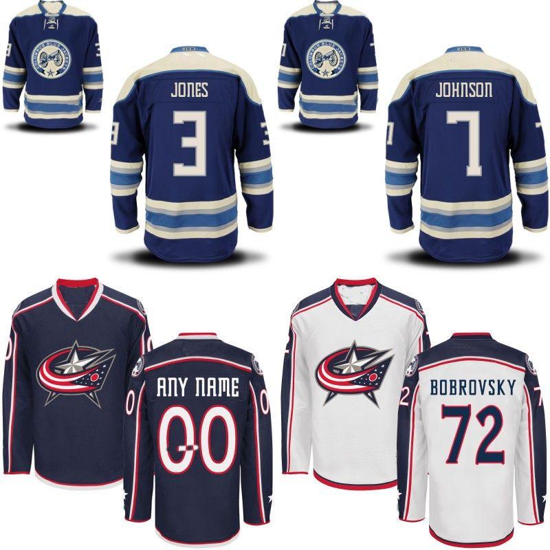 newest 22210 51304 Youth Kids Columbus Blue Jackets Jersey #3 Seth Jones #7 Jack Johnson #13  Cam Atkinson Custom Hockey Jerseys Any Name and Any Number