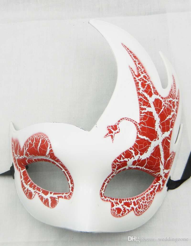 Venetian Masquerade Party Mask Children's Mask Peacock Crackle Flame Mask For Party Halloween For
