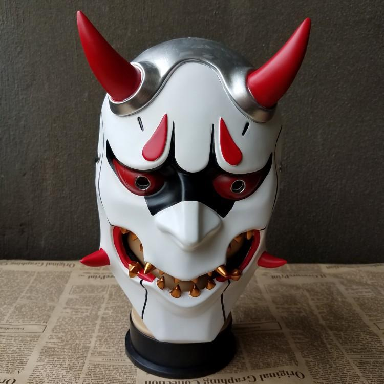 New2017 Buddha Prajna Mask Halloween Devil Full Face Scary Horror Movie Mask Masquerade Party Wargame Field Game Japanese Mask