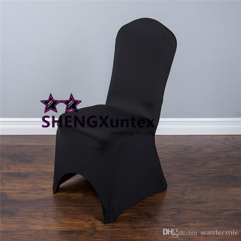 Black Color For Wedding Lycra Spandex Chair Cover Cheap Price