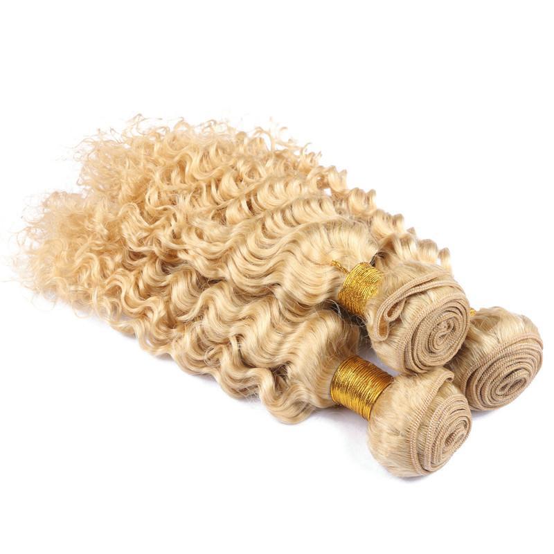 버진 페루 # 613 금발의 인간의 머리카락 확장 10-30