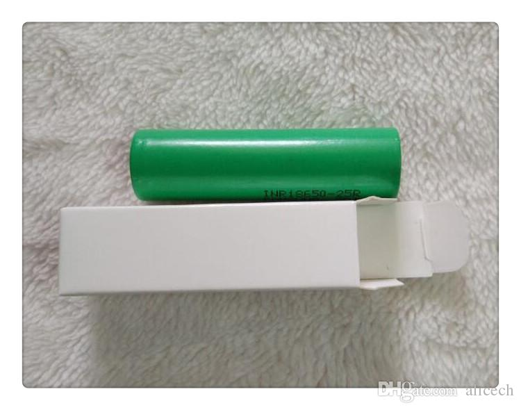 DHL 18650 lithium batteries 25R for Samsung 18650 2500mAh 20A A Grade High Power Li-ion Rechargeable Battery Cell