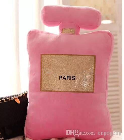 Neu! Klassisches Markenmuster Kissen 50x30cm Parfüm Flasche Form Kissen schwarz weiß Kissen Luxus Mode Design Logo Kissen