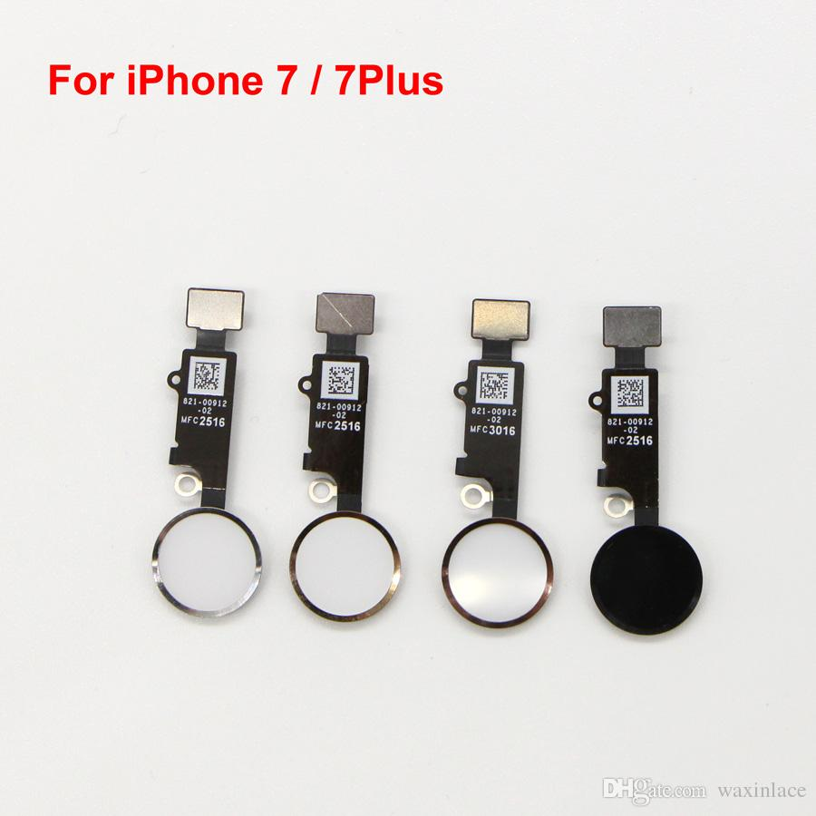 timeless design 34775 85b2f New Home button key For iPhone 7 7G 7 plus Home Button Flex Cable Key Cap  Assembly free shipping
