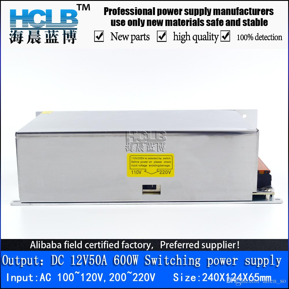 2018 New 600w 12v Power Supply 12v 50a Smps 12v50a 600w Cctv Led ...