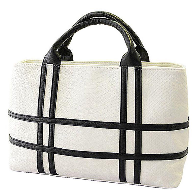 ebb11dacf924 Wholesale- 2016 New Black And White Hit Color Shoulder Bag Big Bag ...