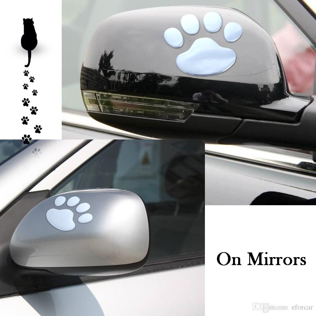 자동차 재미 스티커 3D 자동차 자동차 풋 프린트 귀여운 PVC Paster 노트북 노트북 패션 장식 도매 개인 맞춤 장식 다용도
