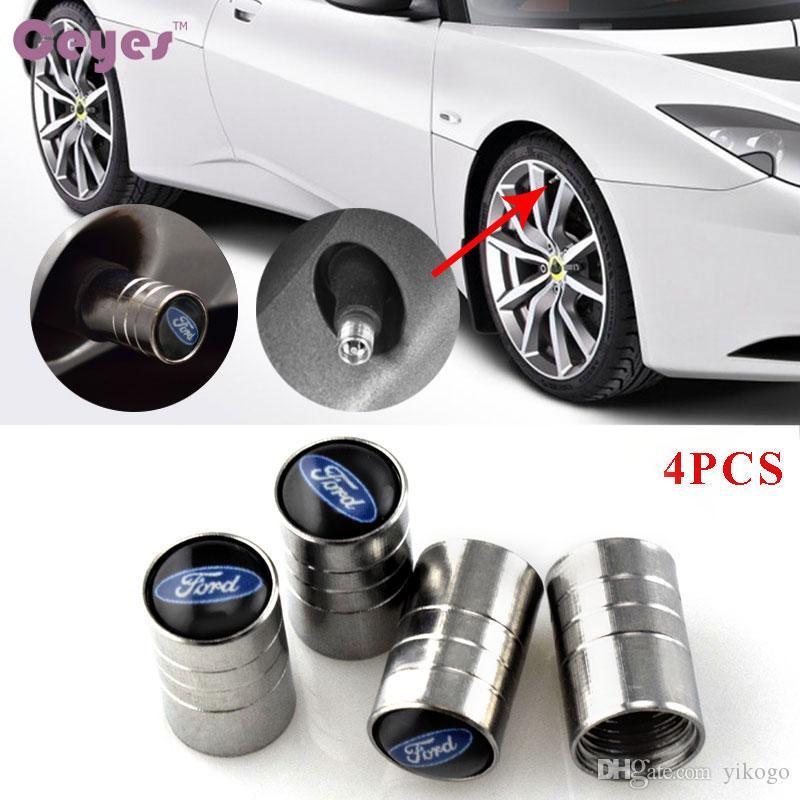 Авто колеса автомобиля шин клапан крышки Крышка для Ford focus 2 3 fiesta Kuga mondeo ranger эмблемы стайлинга автомобилей 4 шт. / лот