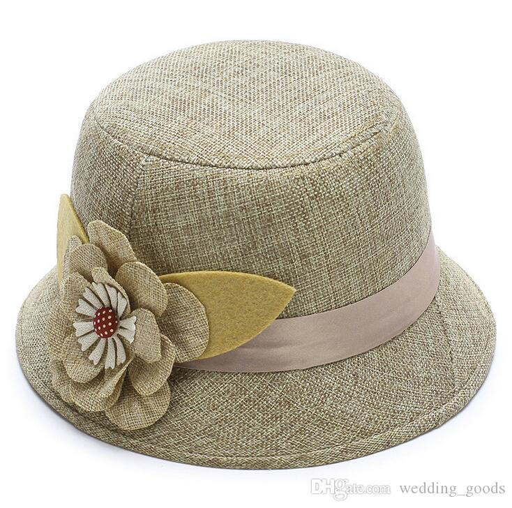 Hot sale New spring and summer hat lady linen sun shade sunscreen breathable big princess straw hat WMB005