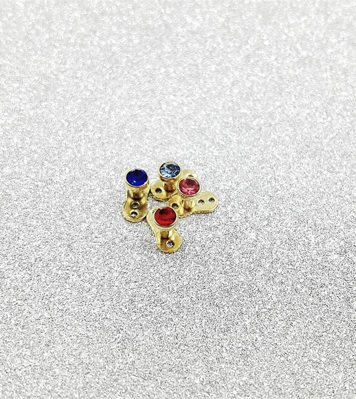 Skin implantation jewelry Invisible piercing Titanium Dermal Anchor Top Gems Micro Dermal Head Surfaces