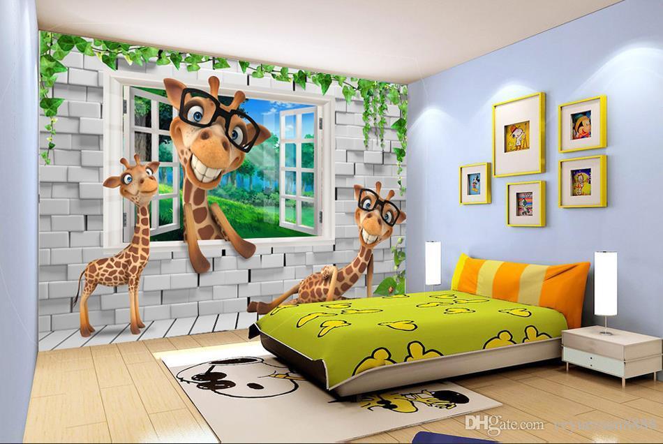 Custom Wallpaper 3d Animals Kids Room Backdrops 3d Wallpaper Living Room Wall Paper Mural 3d Hd