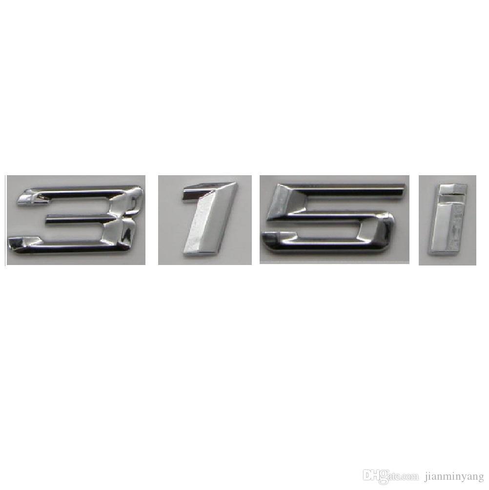 Chrome Number Trunk Rear Letters Word Badge Emblem Sticker For Bmw 3 Series 315i
