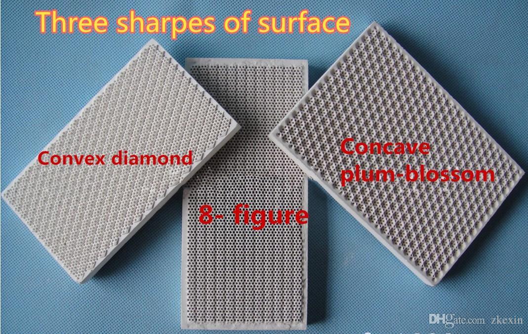 129*76*13mm gas heater ceramic plate,infrared ceramic plate,gas oven plate Gasburner honeycomb ceramic plate factory direct